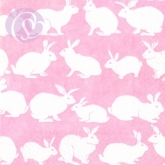 Lunchservietten Rabbit Hutch, pink