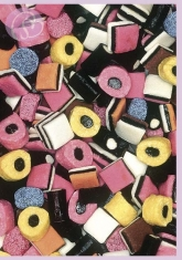 Klappkarte Licorice Allsorts