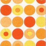 Servietten Dots, orange