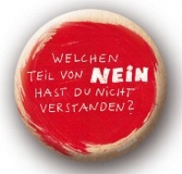 Metall-Button Nein