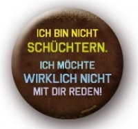 Metall-Button Schüchtern